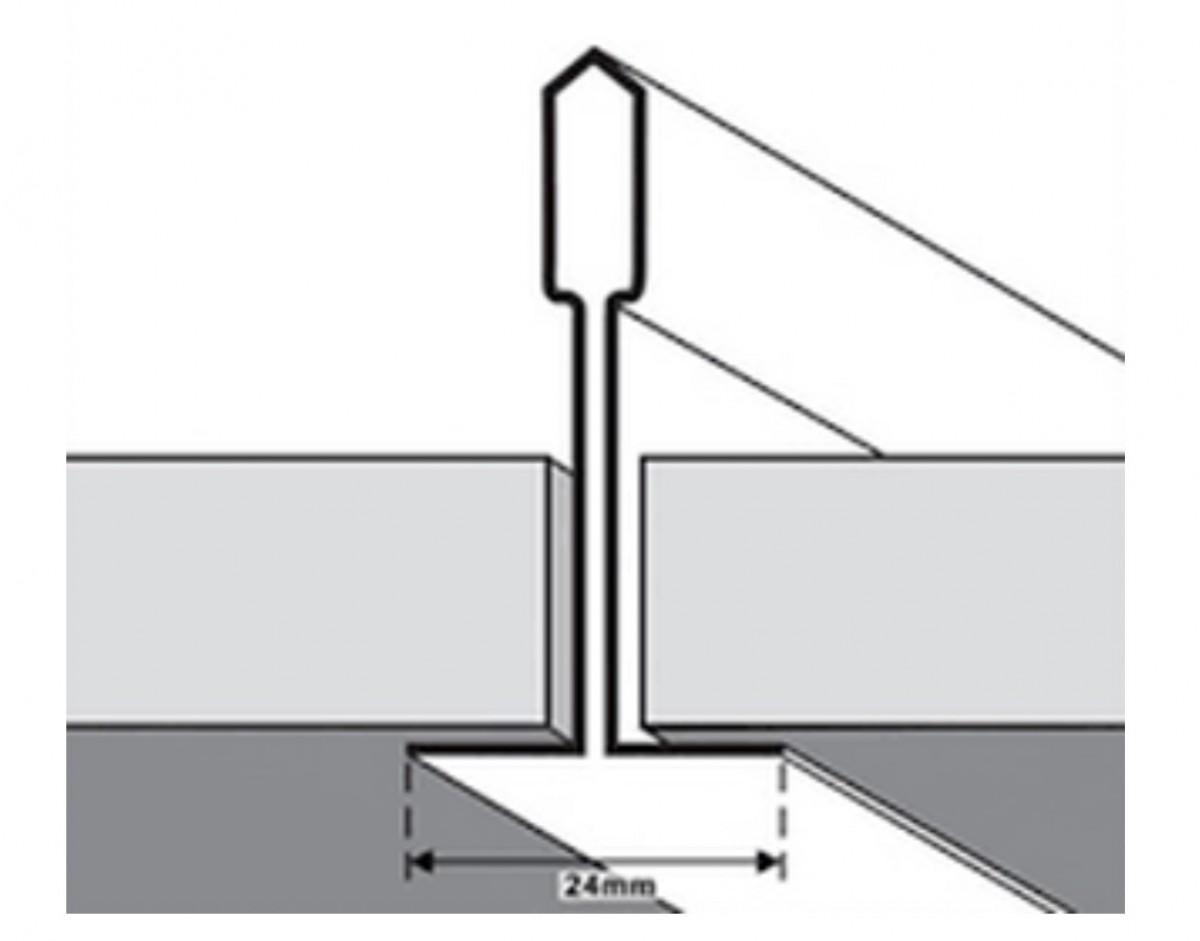 T-Bar Grid Ceiling Tile Divider 24mm