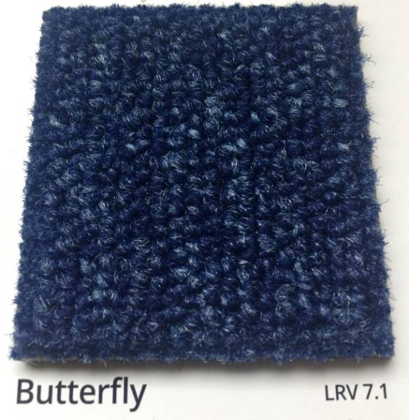 Dahlia Butterfly Blue Carpet Colour Swatch