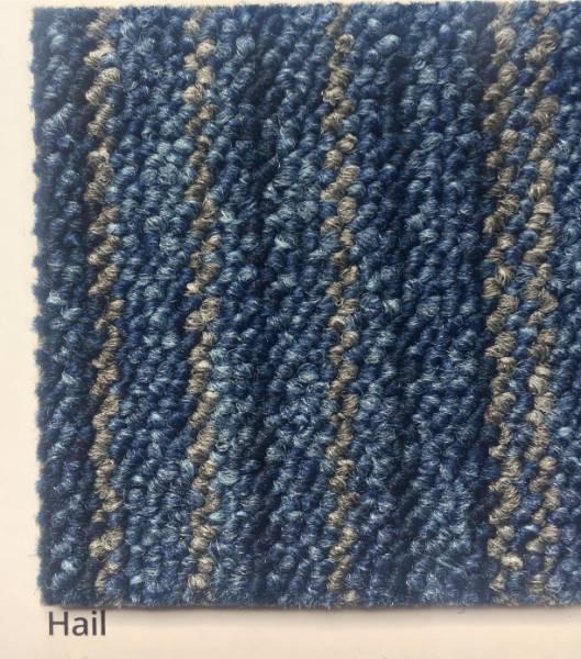 Skyscape Hail Blue Strip Carpet Colour Swatch